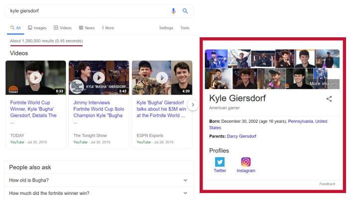 صفحه سرچ گوگل