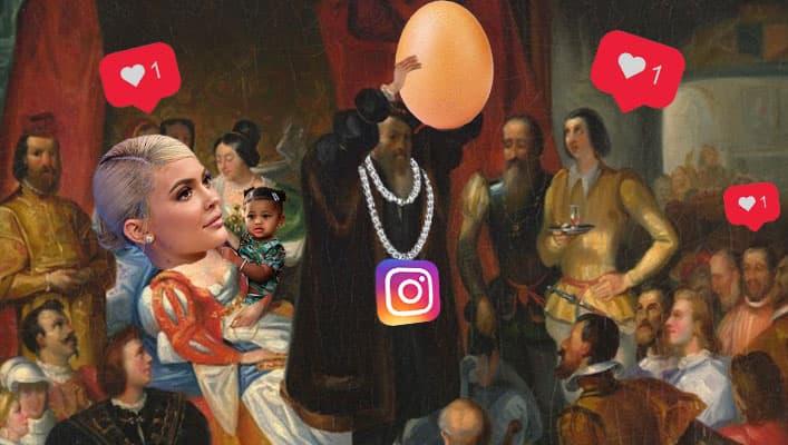 ملکه ی اینستاگرام در جنگی 9 روزه از یک تخم مرغ شکست خورد