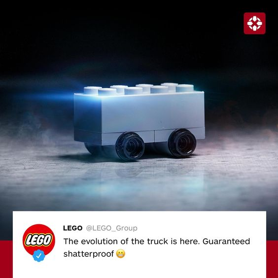 طرح شرکت LEGO از روی سایبرتراک