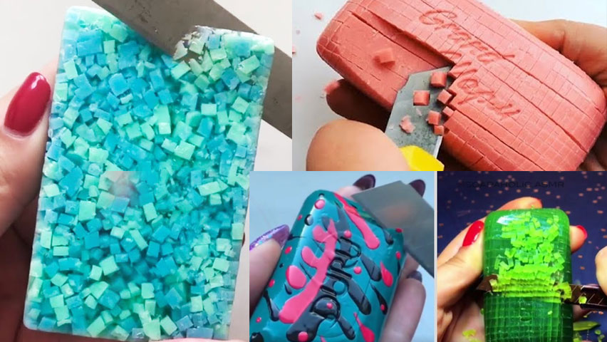 بریدن صابون asmr soap cutting