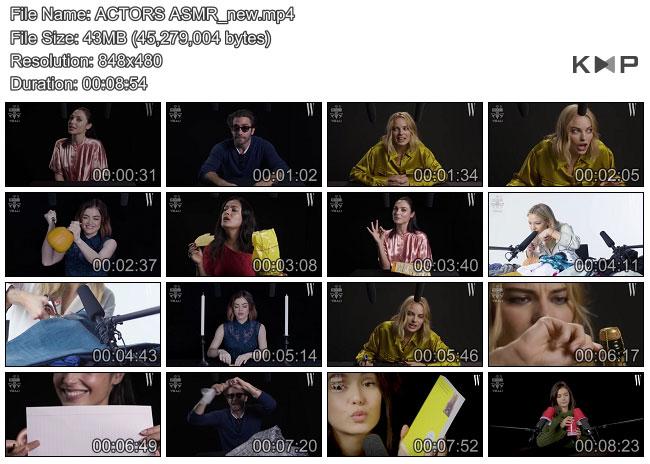 مصاحبه سلبریتی ها به صورت ASMR