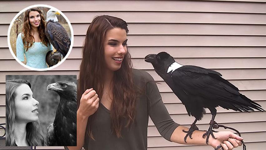 دختری که با پرندگان صحبت میکند