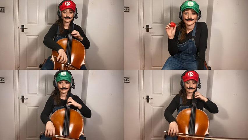 اجرای خلاقانه موسیقی بازی ماریو (قارچ خور) ویولنسل Cello توسط سامارا گینسبرگ