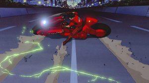 صحنه موتور معروف انیمیشن آکیرا و تقلید از آن در انیمیشن بتمن و لاکپشت های نینجا